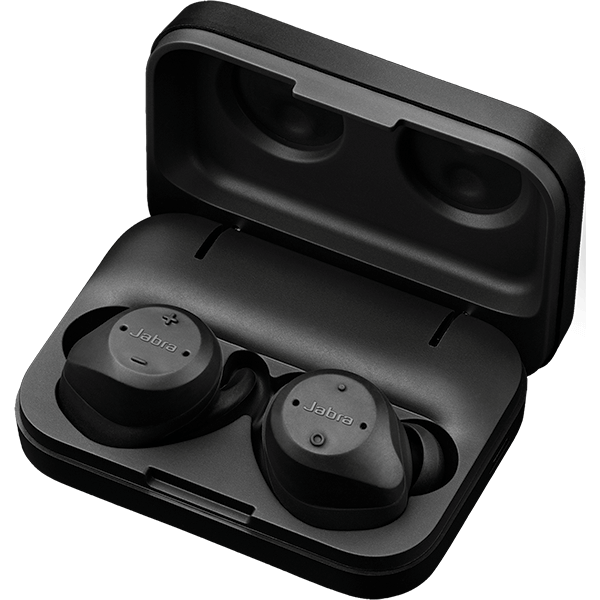 Jabra Elite Sport earbuds and case