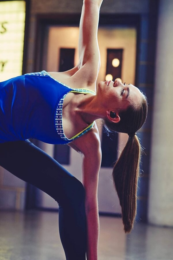 Woman doing yoga with Elite sport